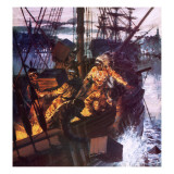 Boston Tea Party Giclee Print by  English School