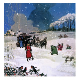 Christmas Scene Giclee Print by  English School