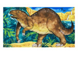 Dinosaur Giclee Print by  English School
