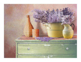 Flowers on a Sideboard IV Print by M. de Flavis