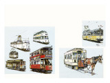 Trams Giclee Print by John S. Smith