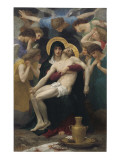 Pieta, 1876 Reproduction proc&#233;d&#233; gicl&#233;e par William Adolphe Bouguereau