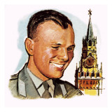 Yuri Gagarin Giclee Print by English School 