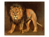 Lion Walking Giclee Print by Theodore Gericault