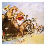 The Grand National Giclee Print by Barrie Linklater