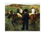 Racehorses Reproduction procédé giclée par Edgar Degas