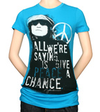 Juniors: John Lennon - Give Peace Shirt