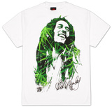Bob Marley - Leaves Dreads T Shirts