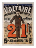 Poster Advertising 'A Voltaire', C.1877 Giclee Print by Jules Chéret