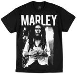 Bob Marley - Black & White Camisetas