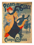 Poster Advertising the Palais De Glace on the Champs Elysees Giclee Print by Jules Ch&#233;ret