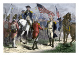 General Lincoln Receiving Lord Cornwallis's Sword from British General O'Hara, c.1781 Giclee Print