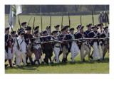 Continental Army Reenactors Advance at Yorktown Battlefield, Virginia Giclee Print