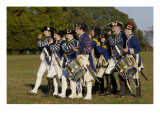 Loyalist Colonials Marching in a Reenactment on the Yorktown Battlefield, Virginia Giclee Print