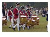 British Drummer Boys in a Reenactment of the Surrender at Yorktown Battlefield, Virginia Giclee Print
