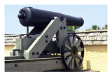 Civil War Cannon at Fort Moultrie Aimed at Fort Sumter in Charleston Harbor, South Carolina Giclee Print