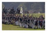 Continental Army Reenactors March to the British Surrender at Yorktown Battlefield, Virginia Giclee Print