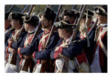 Continental Army Soldiers Reenact a March at Yorktown Battlefield, Virginia Giclee Print
