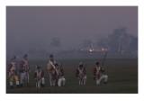 American Musket-Fire Halting a British Sortie, a Reenactment at Yorktown Battlefield, Virginia Giclee Print