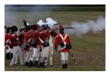 British Sortie against a Redoubt Reenactment at Yorktown Battlefield, Virginia Giclee Print