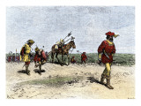 Alvar Nunez Cabeza de Vaca Crossing the Great American Desert from Texas to Mexico, 16th Century, Giclee Print
