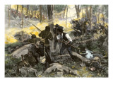 Battle of King's Mountain, South Carolina, 1780, American Revolution Giclee Print