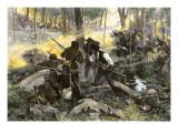 Battle of King's Mountain, South Carolina, 1780, American Revolution Giclee Print