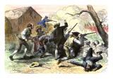 Minutemen at the Battle of Lexington, Starting the American Revolutionary War, c.1775 Giclee Print