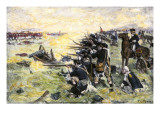Americans Holding Their Ground at the Battle of the Brandywine, American Revolution, c.1777 Giclee Print