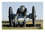 Revolutionary War French Cannon on a Redoubt at Yorktown Battlefield, Virginia Giclee Print