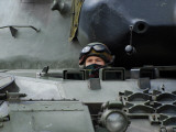 Tank Driver of a Leopard 1A5 MBT of the Belgian Army Photographic Print by  Stocktrek Images