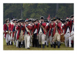 British Fife and Drum Corps Takes the Field in a Reenactment of the Surrender at Yorktown Giclee Print