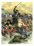 Battle of Buena Vista during the U.S.-Mexican War, c.1847 Giclee Print