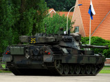 The Leopard 1A5 MBT of the Belgian Army in Action Photographic Print by  Stocktrek Images