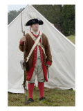 American Soldier at a Reenactment on the Yorktown Battlefield, Virginia Giclee Print