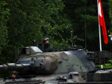 Tank Commander of a Leopard 1A5 MBT of the Belgian Army Photographic Print by  Stocktrek Images