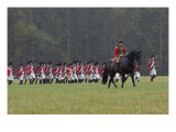 British Army on the Field in a Reenactment of the Surrender at Yorktown Battlefield, Virginia Giclee Print