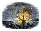 Burning of the American Ship, Philadelphia, Held by Barbary Pirates in Tripoli Harbor, c.1804, Poster