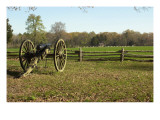Confederate Artillery Aimed at Peach Orchard Next to Manse George's Cabin Giclee Print