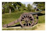 Revolutionary War Cannon Atop a Redoubt at Yorktown Battlefield, Virginia Giclee Print