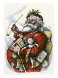 Merry Old Santa Claus, 1880s Giclee Print
