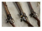 Flintlock Muskets at a Reenactment on the Yorktown Battlefield, Virginia Giclee Print