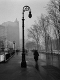 Walk in the Rain, Columbus Park Prints by Henri Silberman