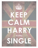 Keep Calm, Harry is Still Single Prints