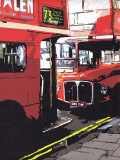 Routemasters London Prints by Jo Fairbrother