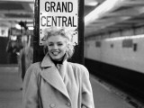 Marilyn Monroe, Grand Central Schilderij van Ed Feingersh