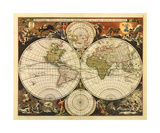 New World Map, 17th Century Giclee Print by Nicholas Visscher