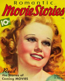 Jean Harlow - Romantic Movie Stories Magazine Cover 1930's Lámina maestra