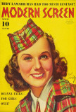 Deanna Durbin - Modern Screen Magazine Cover 1930's Masterprint
