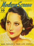 Merle Oberon - Modern Screen Magazine Cover 1930&#39;s Masterprint